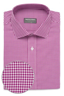 Magenta Shadow Windowpane Check Shirt