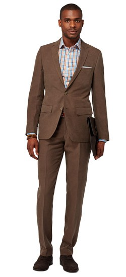 Chestnut Silk Linen Suit