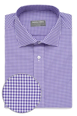 Purple Shadow Windowpane Check Shirt