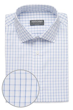 Light Blue Check Dobby Shirt