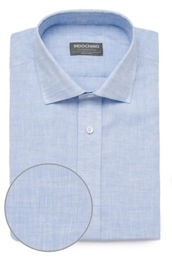 8f9069890e92 Ice Blue Linen Shirt