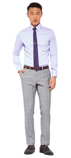 Classic Gray Prince of Wales Pants