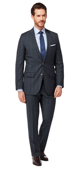 Charcoal Twill Windowpane Suit