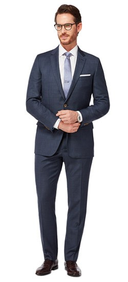 Navy with Teal Overcheck Suit