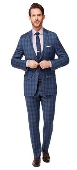 Indigo Plaid with Royal Windowpane Suit