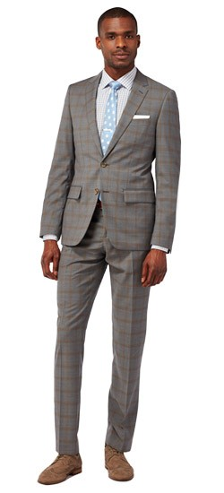Gray with Bronze Check Suit