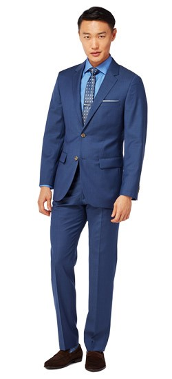 Indigo Diagonal Stitch Suit