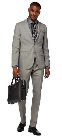 Charcoal Chambray Suit