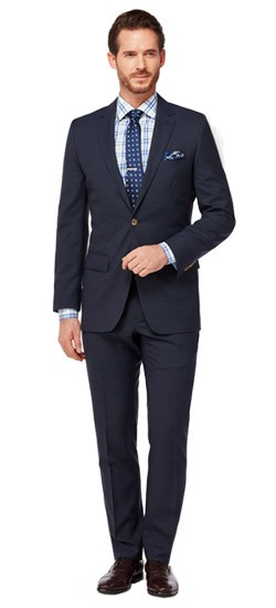 Navy Tonal Micro Check Suit