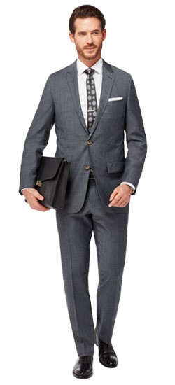 Charcoal Diagonal Stitch Suit