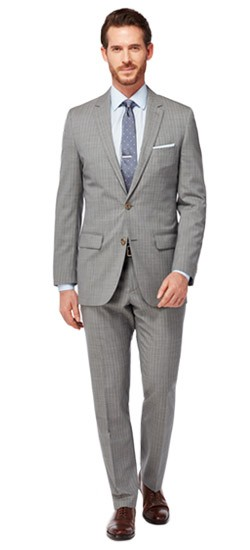 Charcoal Nailhead Pinstripe Suit