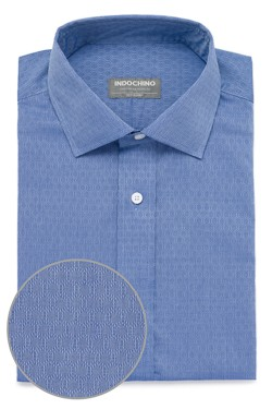 Indigo Hexagon Dobby Shirt