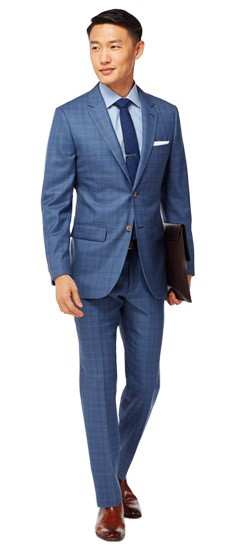 Luxury Indigo Tonal Plaid Suit