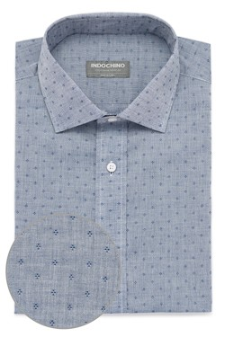 Blue Chambray Diamond Dobby Shirt
