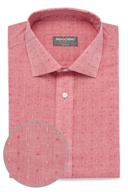 Red Chambray Diamond Dobby Shirt