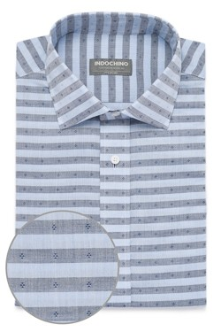 Blue Chambray Stripe Dobby Shirt