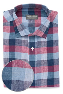 Red Buffalo Check Linen Shirt