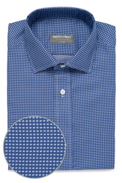 Indigo Stitched Box Shirt