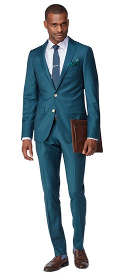 Emerald Twill Suit