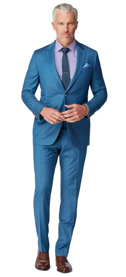 French Blue Twill Suit
