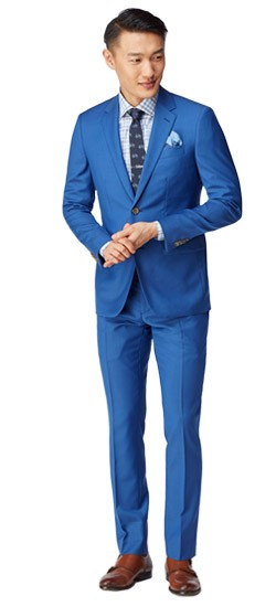 Royal Blue Sharkskin Suit