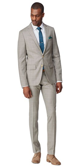 Chestnut and Ivory Micro Houndstooth Suit