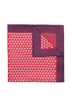 Red Elephants and Palms Pocket Square