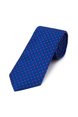 Blue and Crimson Circle Tie