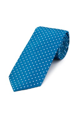Teal and Silver Circle Tie