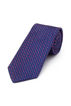 Plum and Navy 3D Cube Tie