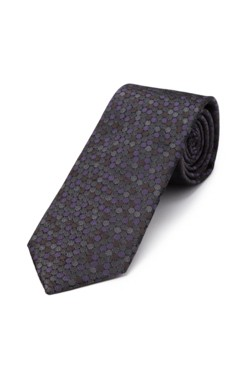 Charcoal and Plum Bokeh Tie