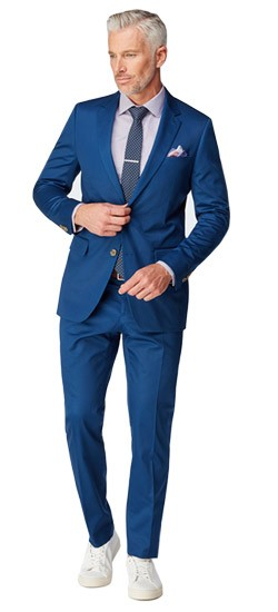 Navy Stretch Cotton Suit
