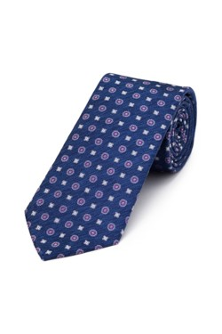 Indigo and Plum Foulard Tie