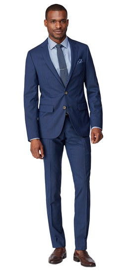 Blue Fineline Suit