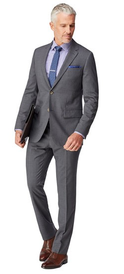 Gray Box Check Suit