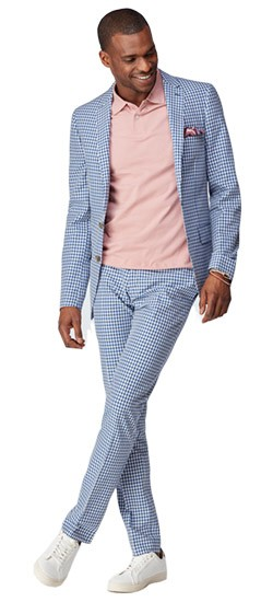 Royal Check Wool Cotton Suit