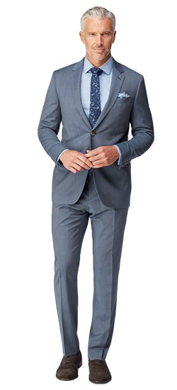 Slate Fineline Stretch Wool Suit