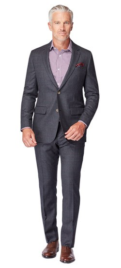 Charcoal Glen Check Flannel Suit