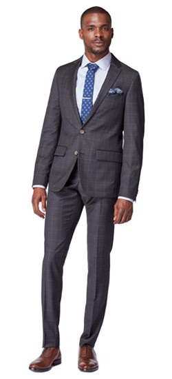 Charcoal Prince of Wales Suit
