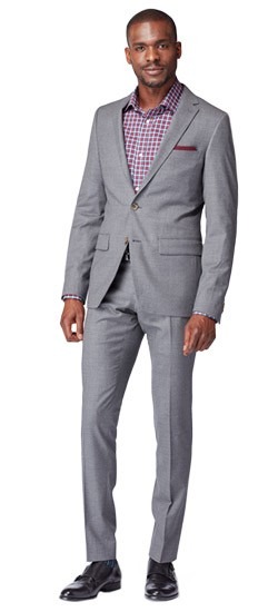 Gray Stretch Flannel Suit