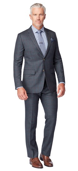 Charcoal Houndstooth Suit