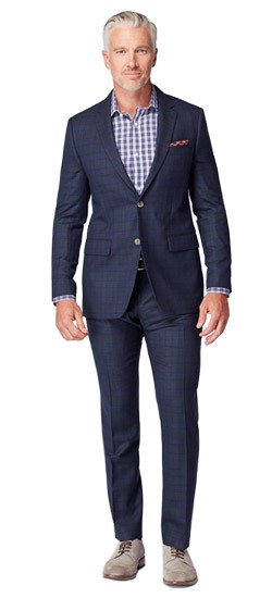 Dark Indigo Windowpane Suit
