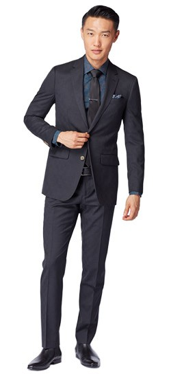 Coal Tonal Glen Check Suit