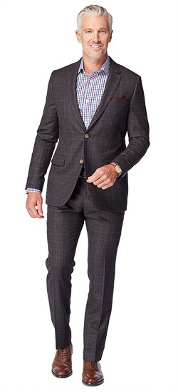 Charcoal Check Flannel Suit