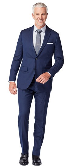 Navy and Silver Tonal Stripe Suit