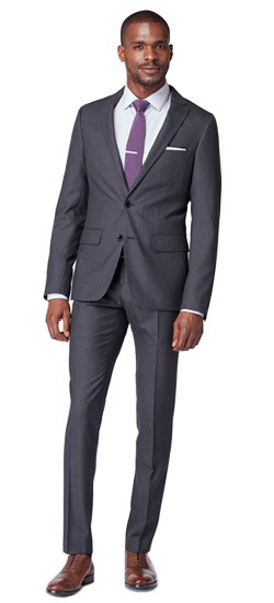 Deep Charcoal Tonal Stripe Suit