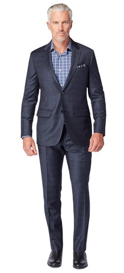 Navy and Indigo Windowpane Suit