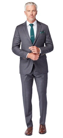 Warm Gray Check Suit