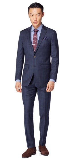 Tonal Navy Windowpane Suit
