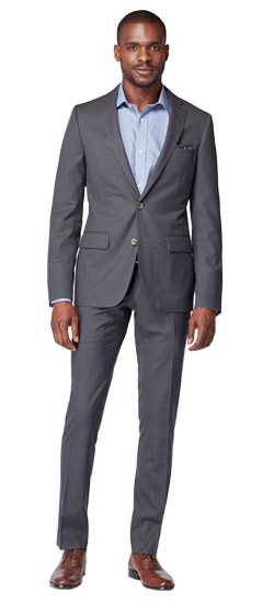 Gray Tonal Houndstooth Suit